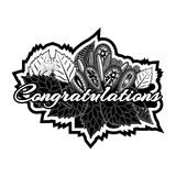 Congratulations doodles. Vector Illustration on white background. EPS file available. see more images related Stock Image