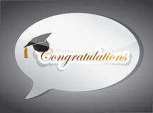 Congratulations education speech bubble Royalty Free Stock Images
