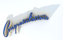 Congratulations Extruded Text Royalty Free Stock Photos