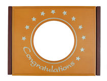 Congratulations Frame. Made from wood Stock Photos