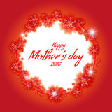 Congratulations frame to the Mothers Day. May 8 2016 Royalty Free Stock Image