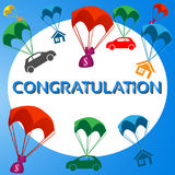 Congratulations, get a gift Royalty Free Stock Photography