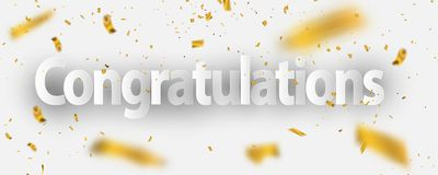 Congratulations Gold celebration background congratulations Gold celebration background. Congratulations Gold celebration background with confetti Royalty Free Stock Images