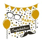 congratulations grad celebration card Royalty Free Stock Photo