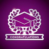 congratulations grad celebration card Stock Photo