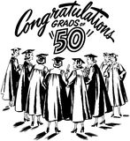 Congratulations Grads of 50 Royalty Free Stock Photos