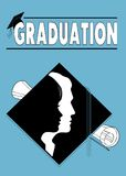 Congratulations graduates diploma Stock Photography
