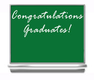 Congratulations Graduates - School Chalkboard. Congratuations Graduates - School Chalkboard Isolated with room for your ad copy Royalty Free Stock Photo