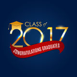 Congratulations on Graduation 2017 Class Background Vector Illus. Tration EPS10 Royalty Free Stock Photo