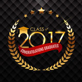 Congratulations on Graduation 2017 Class Background Vector Illus. Tration EPS10 Royalty Free Stock Photos