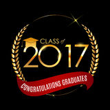 Congratulations on Graduation 2017 Class Background Vector Illus. Tration EPS10 Stock Photo