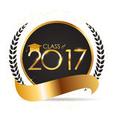 Congratulations on Graduation 2017 Class Background Vector Illustration. EPS10 Stock Illustration