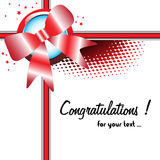 Congratulations greeting Royalty Free Stock Photography