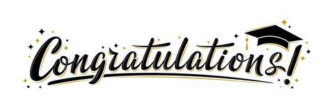 Free `Congratulations!` Greeting Sign. Congrats Graduated Royalty Free Stock Photo - 176610495