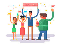Congratulations group people Royalty Free Stock Photos