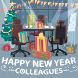 Congratulations Happy New Year from colleagues Royalty Free Stock Photo