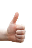 Congratulations!! Human hand giving thumbs up Stock Image