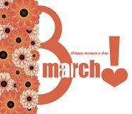 Congratulations on international womens day Royalty Free Stock Images