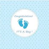Congratulations  its a boy Royalty Free Stock Images