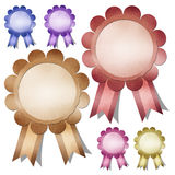 Congratulations labels stick icons. Stock Photography