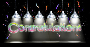 Congratulations Lamp Hanging draw background Royalty Free Stock Photo