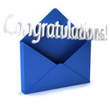 Congratulations Letter Royalty Free Stock Images