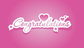 Congratulations lettering Stock Photography