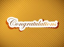 Congratulations lettering Stock Photos