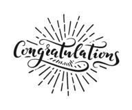 Congratulations lettering on a white background royalty free stock photo