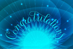 Congratulations lettering illustration hand Royalty Free Stock Image