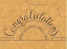 Congratulations lettering illustration hand Stock Photo