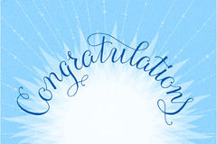 Congratulations lettering illustration hand Royalty Free Stock Photo