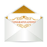 Congratulations mail Stock Photo