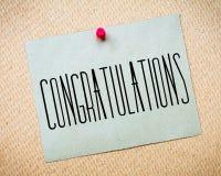 Congratulations Message Stock Photos