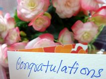 Congratulations  message Stock Image