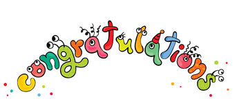 Congratulations -- monsters. Vector illustration - funny letters Congratulations Royalty Free Stock Photo