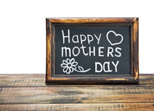 Congratulations on Mother's Day. On a white background Stock Images