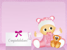 Congratulations for newborn Royalty Free Stock Image