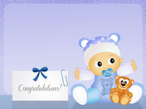 Congratulations for newborn Royalty Free Stock Photos
