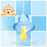 Congratulations for newborn Stock Photography