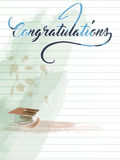 Congratulations note with hat Stock Image