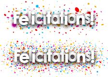 Congratulations paper banners. stock illustration