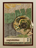 Congratulations. Postcard with flower Royalty Free Stock Image