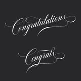 Congratulations. Retro style lettering. Calligraphic greeting inscription. Vector vintage typography. Stock Photos