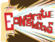 Congratulations shout. Cards succeed him happy Shouted loud mouth the tongue is literally the word Congratulations I design and hand-writing on the computer Royalty Free Stock Photography