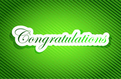 Congratulations sign card illustration design Stock Images