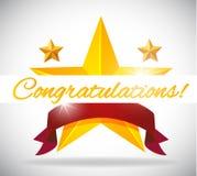 Congratulations Star Vector Illustration royalty free illustration