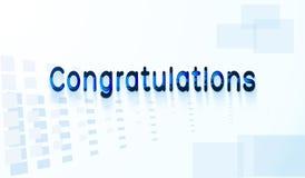 Congratulations text. Stock Image