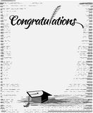 Congratulations text  with quill pen Stock Photo