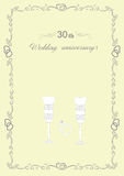 Congratulations to the 30 anniversary wedding anniversary Royalty Free Stock Image